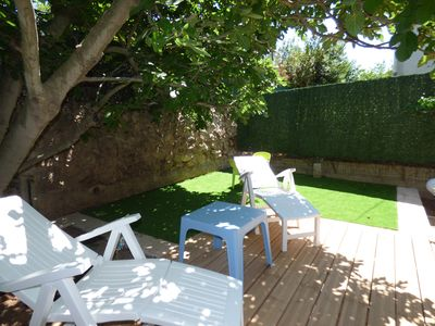 Photo for T3 ground floor, very quiet and wooded, with outdoor, beach and shops on foot