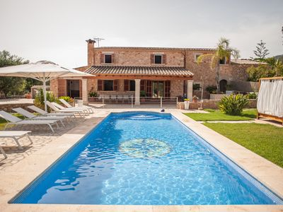 Photo for Typical mallorcan Villa for families, with private pool, 5 km from the beach