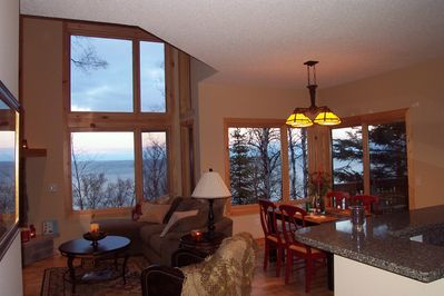 618 Windsong Drive is an end unit so LOTS of lake facing windows fabulous view