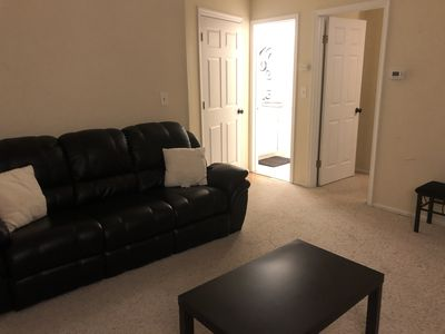 Photo for Spacious 2 room space, 3 blocks from NYC bus stop
