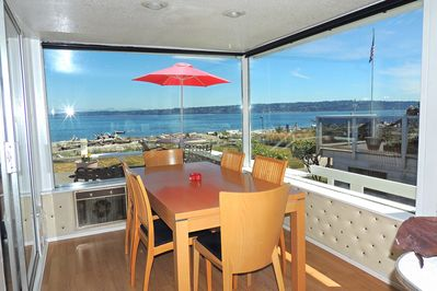 Dining room with an incredible view