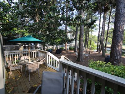 Photo for Walk to Beach! Golf Views Updated Double Decks Two Living Rooms 1900 sq ft 3 BR Townhome