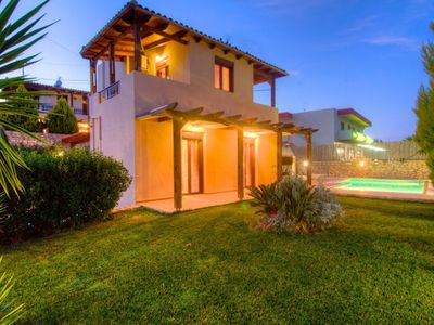 Photo for Villa Roumeli is a beautiful two story family villa with three bedrooms which can accommodate up to