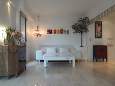 Photo for AMAZING SEA VIEW, air-conditioned apartment, new, large panoramic terrace