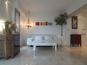 AMAZING SEA VIEW, air-conditioned apartment, new, large panoramic terrace