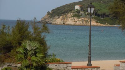 Photo for Villa on the beach of Procchio with lovely views over the bay