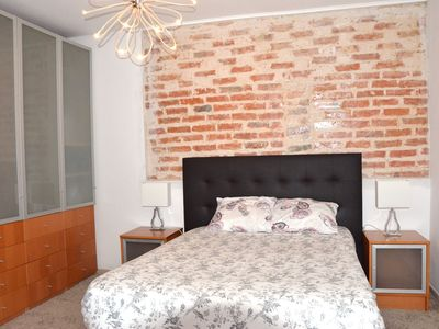Photo for Brick wall old photographer patio house in Belem