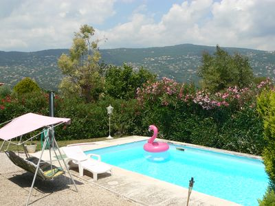 Photo for Independent studio in ground garden villa / Côte d'Azur. Private entrance and swimming pool