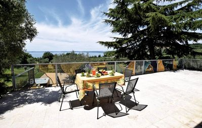 Photo for Apartment in a two-family villa with panoramic views of Lake Garda