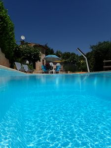 Photo for quiet villa with pool near sea and mountains