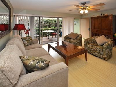 Photo for Premium Plus Partial Ocean & Garden view on 1st floor Steps from Sugar Beach Unit #2