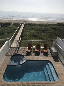 "Photo for ""On"" the Beach, not  CLOSE! Affordable Luxury. Private Boardwalk, Pool, Hot Tub!"