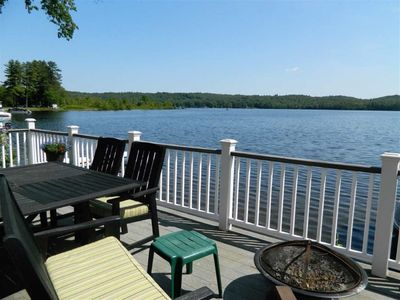 Photo for Beautiful lake cottage with dock on Webster Lake in the lakes region of NH