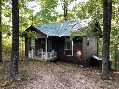 Photo for Ozark Spring Cabins Cliff Side #2, King Bed, Giant Spa Tub, Kitchen, Secluded, Private Deck with Vie