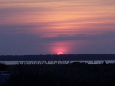 Photo for Spotless Townhouse, Short Walk to Private Beach - Amazing Sunsets From Porch