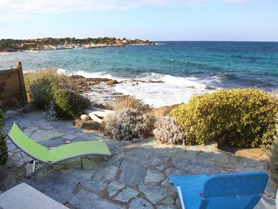 Photo for Beachfront apartment -Marine de Sant'Ambroggio - F3 23PIA