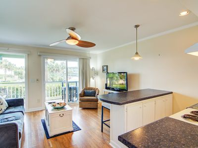 Photo for Oceanview condo featuring community pool, basketball court, & fishing pier