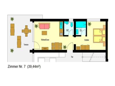 2-Zimmer-Apartment Nr. 7