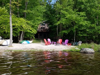 Photo for Escape To The Poconos! Spacious 5 Bedroom ON THE LAKE - Boats, Gameroom, Hot Tub