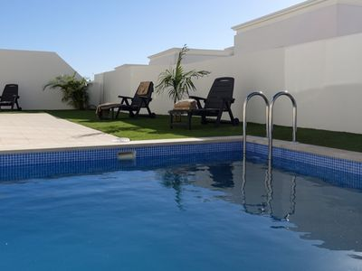 Photo for High quality 3 / 4 bed villa, private pool, wi-fi, air con, BBQ, great location