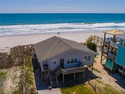 Photo for LANCASTER COTTAGE: 3 BR / 2 BA oceanfront in Topsail Beach, Sleeps 6