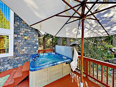Hot Tub - Enjoy a relaxing soak in your private hot tub.