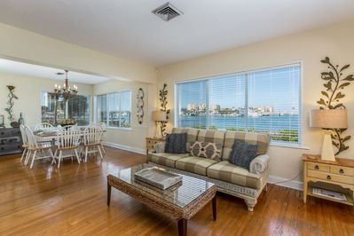 Beautiful water view from the LIving Room
