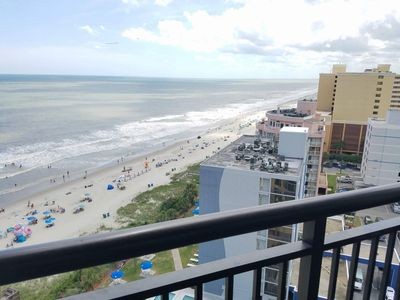 Photo for 3BR/2BA Angle Oceanfront Condo~Ocean Reef 1519