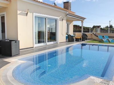 Photo for Villa, heated pool in sunny area, views of mountain and sea | Villa Dilis