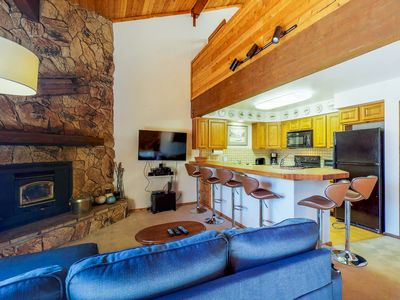 Photo for NEW LISTING! Mountain condo w/free WiFi, fireplace & grill - close to ski lifts