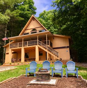 Photo for LakeHill Chalet,  peaceful retreat on Lake Nottely, kayaks, fido friendly