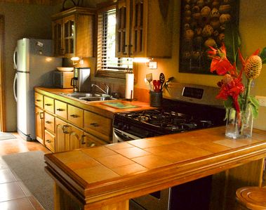 A full size, fully equipped kitchen is ready for any cooking adventure you want.