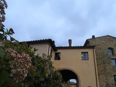 Photo for La Tosca Country House: apartment overlooking the towers of San Gimignano