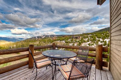 Enjoy coffee or wine on the deck with some of the best views in the Rockies!