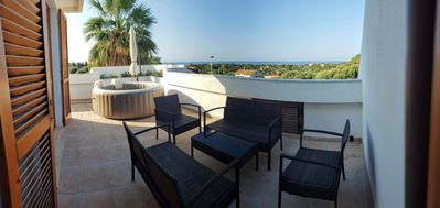 Photo for September in Sardinia is wonderful! Villa with outdoor whirlpool!