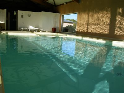 Photo for BEAUTIFUL HOUSE AT 100 METERS FROM THE BEACH WITH SWIMMING POOL COVER TE HEATING
