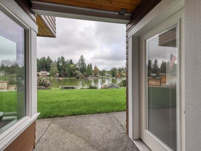 Photo for Cozy, waterfront getaway w/ a kitchenette, outdoor seating, & lake access