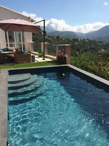 Photo for Villa and studio with pool on hill Nice