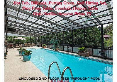 BEACH VACATION w/2nd fl.enclosed deep swimming pool- many ...