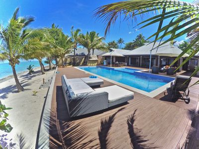 Photo for Luxurious Beachfront Villa with All-inclusive option