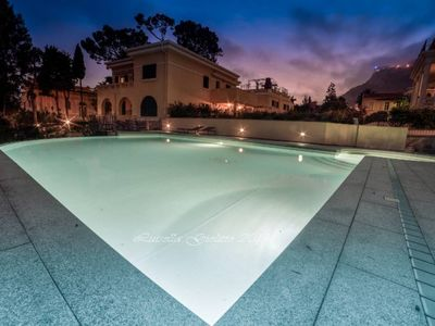 Photo for luxury residence, apartment sleeps 5, garden, terrace, pool, quiet