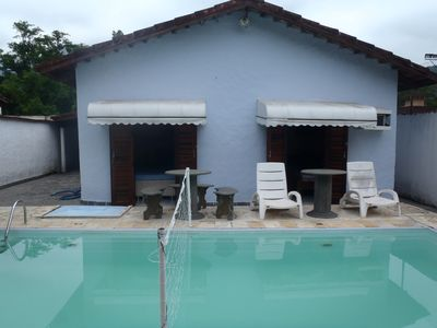 Photo for Maresias 3 bedrooms (1 suite) all with air cond. and swimming pool 3X7