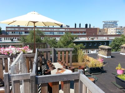 Photo for Apartment with roof terrace, long stay possible.