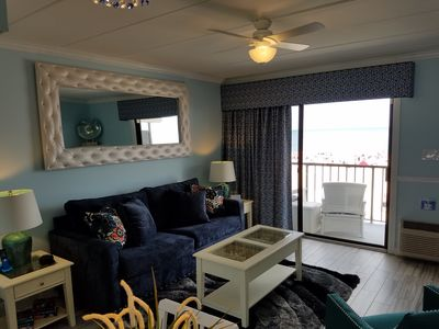 Photo for Must See - Beautiful Oceanfront Condo On The Boardwalk - Private Balcony!