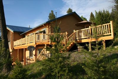 The Apartment is the bottom level of this Log Home