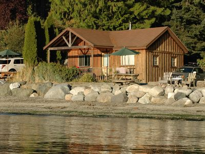 Photo for Beachfront 2BR Classic Cabin - stunning west-facing beach with epic sunsets!