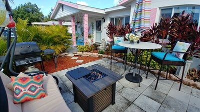 Photo for Pink Flamingo 2bdrm suite/kitchen/ fenced yard/bikes
