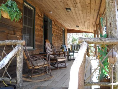 Photo for Roughin'it Cabin On 10 Acres, Creek & View, 4700ft, Pond, Atv Riding, Pets, Wifi
