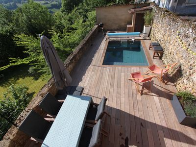 Photo for Dordogne, in the heart of Black Périgord, village house with private pool