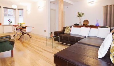 Photo for Central London 2 bedroom 2 bathroom garden flat in a quiet Southbank street